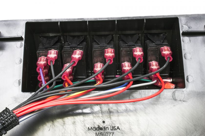 new products painless performance the back side of the switch panel comes pre terminated and ready to plug into the fuse relay center we also pre route the two extra output wires to the
