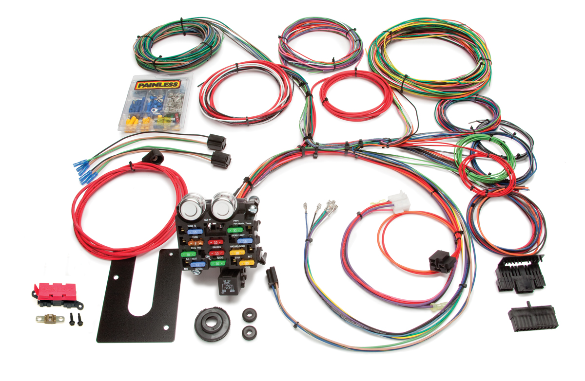 21 Circuit Classic Customizable Chassis Harness - GM Keyed Column By Painless Performance