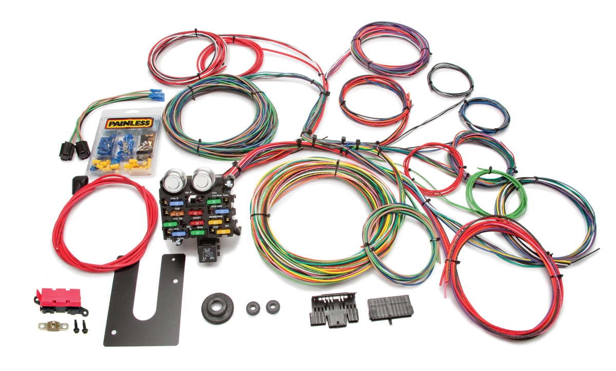 21 Circuit Classic Customizable Chassis Harness - Key In Dash By Painless Performance