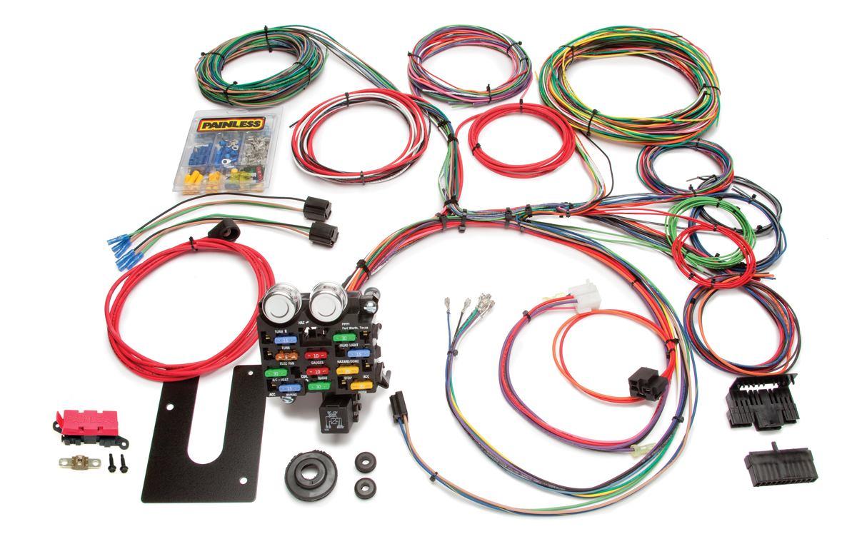 21 Circuit Classic Customizable Pickup Chassis Harness -GM Keyed Column By Painless Performance