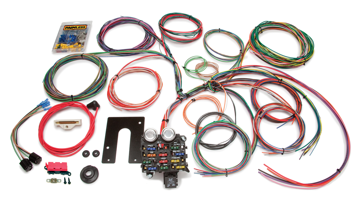 22 circuit classic customizable 1974 earlier jeep cj harness rh painlessperformance com jeep cj wiring harness install best jeep cj wiring harness