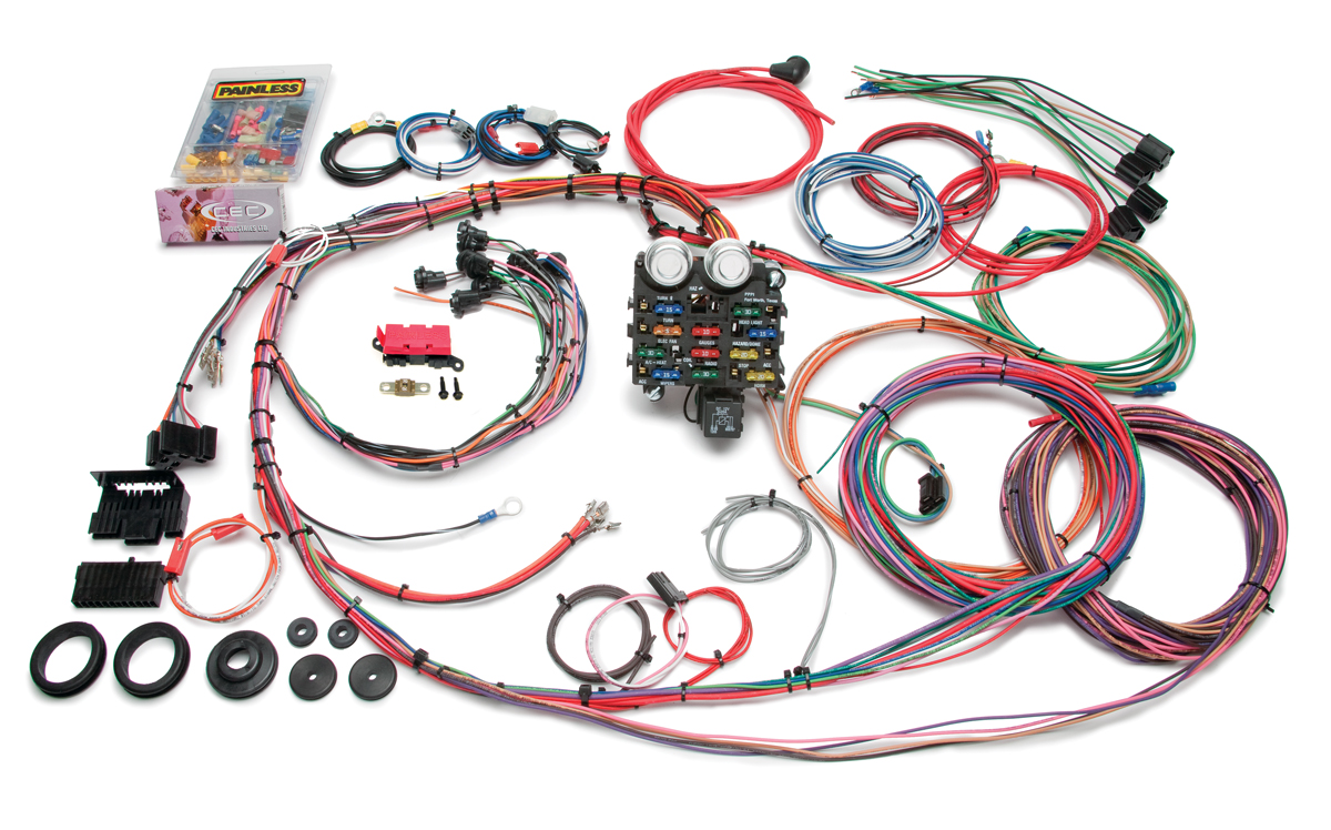 19 circuit classic customizable 1963 66 gmc chevy pickup harness rh painlessperformance com gm wiring harness color codes gm wiring harness connectors