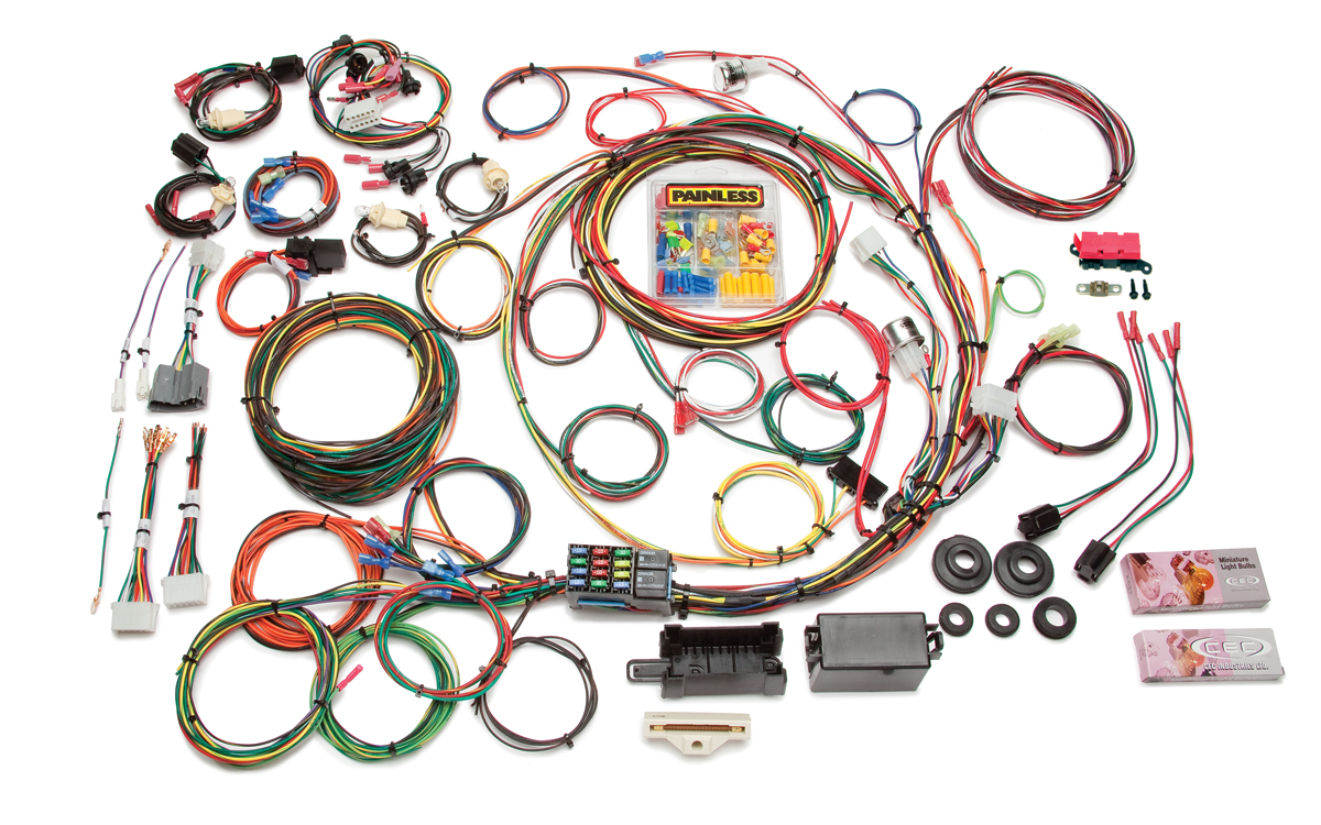 21 Circuit Direct Fit 1967-77 F-Series Ford Truck Harness w/o Switches By Painless Performance