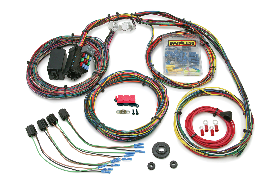 21 circuit customizable 1966 76 mopar chassis harness painless rh painlessperformance com painless wiring harness duramax painless wiring harness 1957 chevy