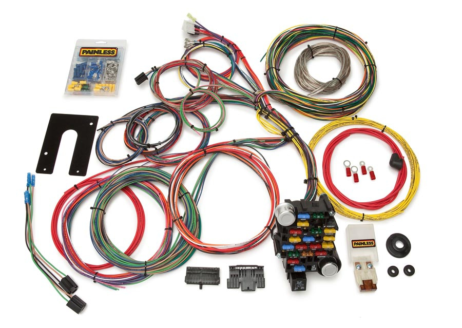 28 circuit classic plus customizable chassis harness gm keyed rh painlessperformance com chevrolet performance wiring harness