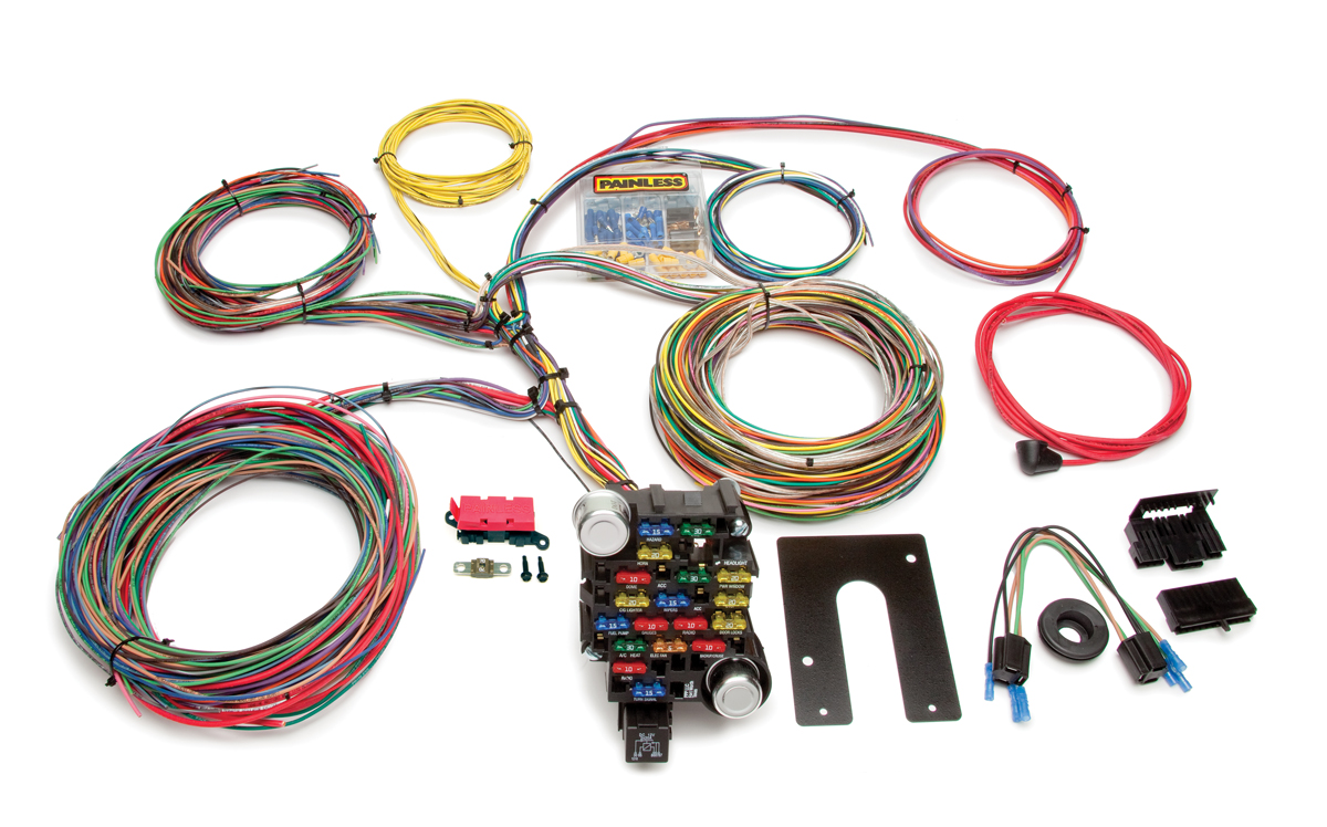 28 Circuit Classic-Plus Customizable Chassis Harness - Key In Dash By Painless Performance