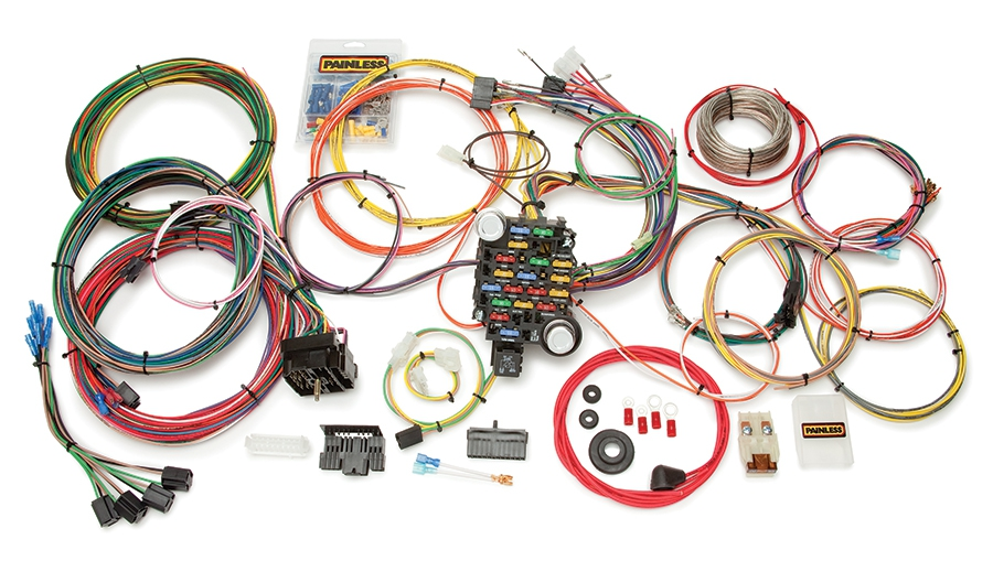 27 circuit classic-plus customizable 1973-87 gm c10 pickup truck chassis  harness | painless performance  painless wiring
