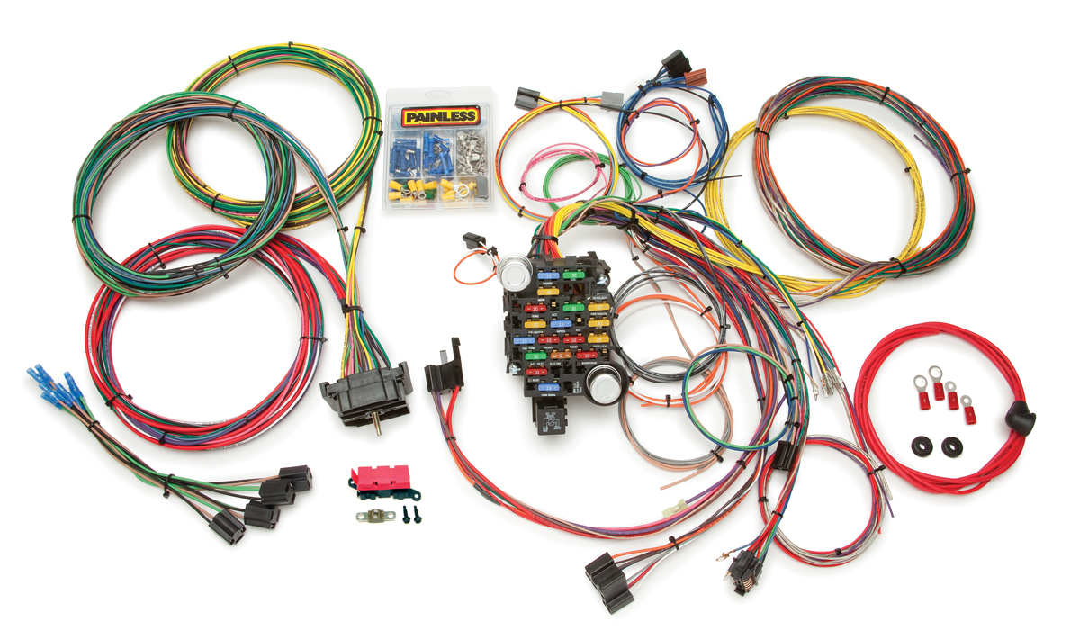 28 circuit classic-plus customizable 1967-72 gmc / pickup truck chassis  harness | painless performance  painless wiring