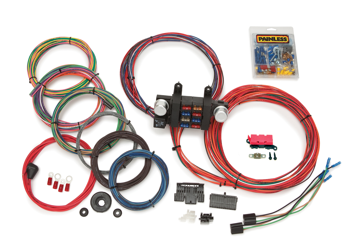 18 Circuit Customizable Chassis Harness w/ Extra Length Wires By Painless Performance