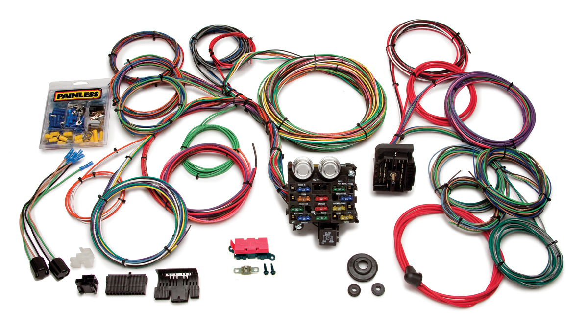 21 Circuit Clic Customizable Muscle Car Harness | Painless ... on spark plug covers, fan covers, wiring cable covers,