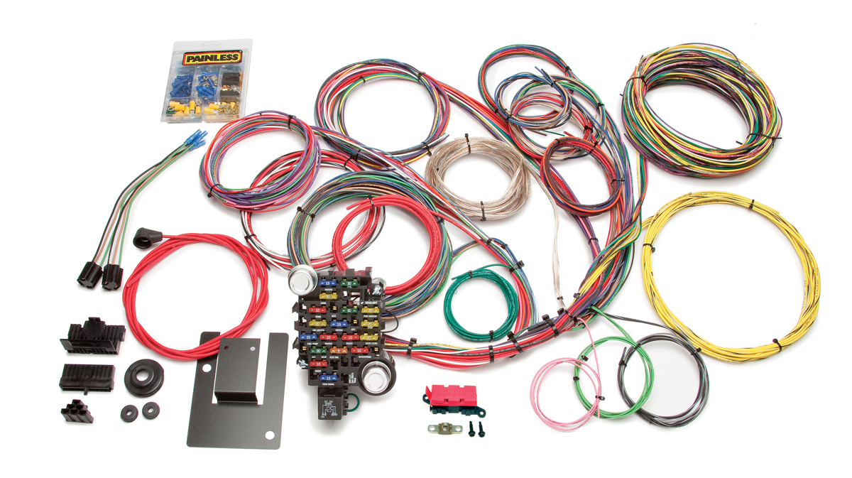 28 circuit classic plus tri five chevy chassis harness painless rh painlessperformance com chevy c10 painless wiring harness chevy c10 painless wiring harness