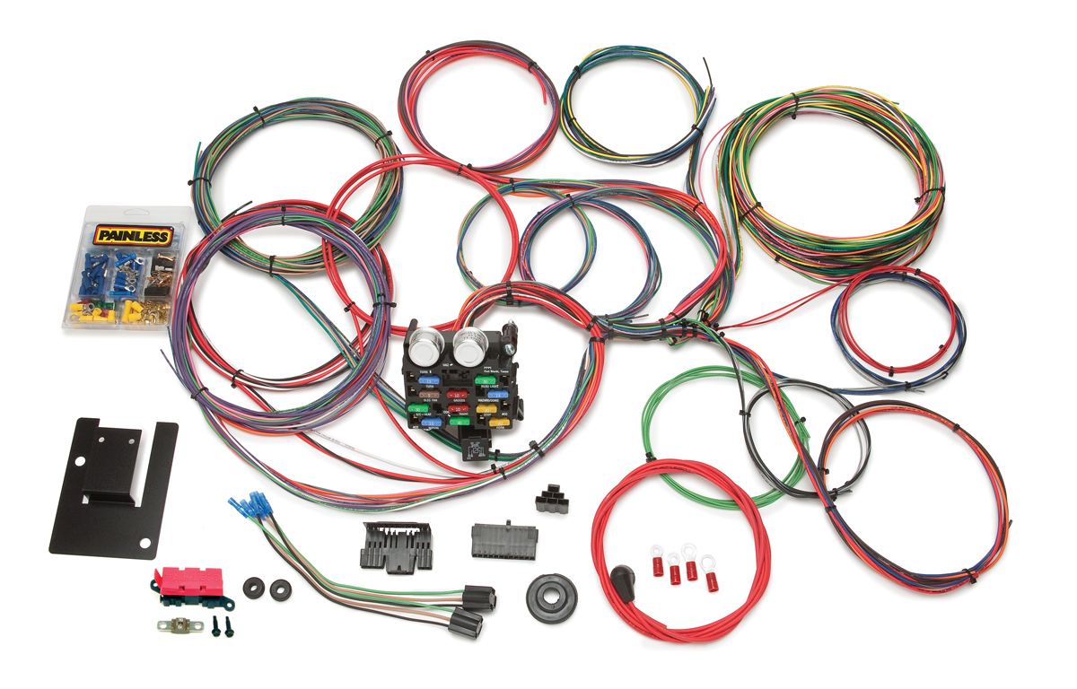 21 Circuit Classic Tri-Five Chevy Chassis Harness By Painless Performance