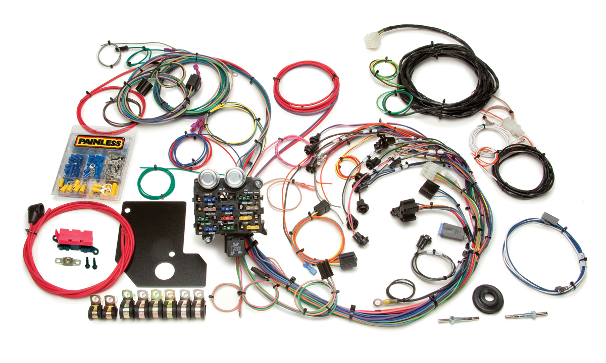 21 circuit direct fit 1966 67 chevy ii nova chassis harness rh painlessperformance com painless wiring harness 1957 chevy chevy c10 painless wiring harness