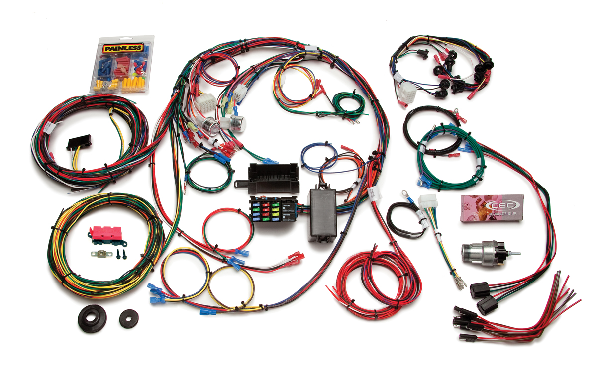 22 circuit direct fit 1967 68 mustang chassis harness painless rh painlessperformance com painless efi wiring harness mustang painless wiring harness 67 mustang