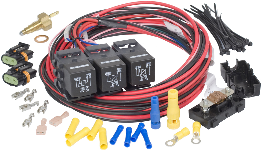 LSx Dual Fan-Dual Activation Fan Relay Kit (205 degrees F On/190 degrees F Off) By Painless Performance