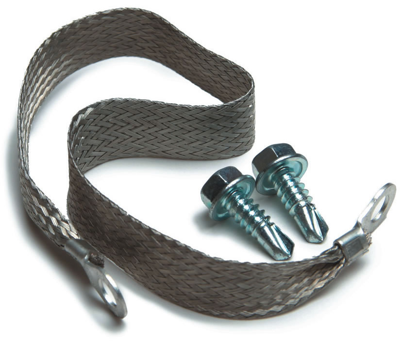Single 10 Gauge Ground Strap Kit By Painless Performance