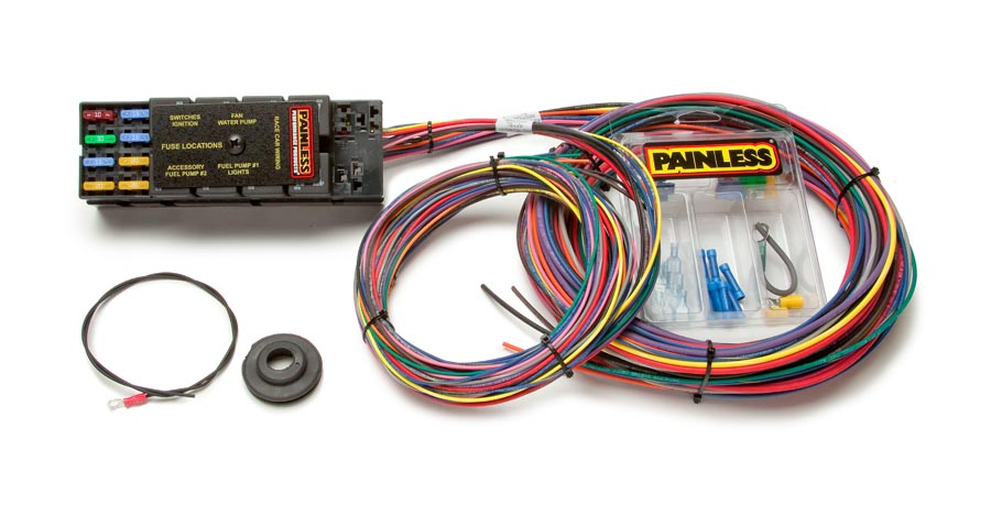 10 circuit race only chassis harness painless performance Universal Painless Wiring Harness