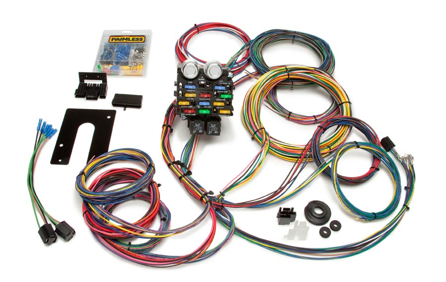 50002 21 circuit pro street chassis harness painless performance