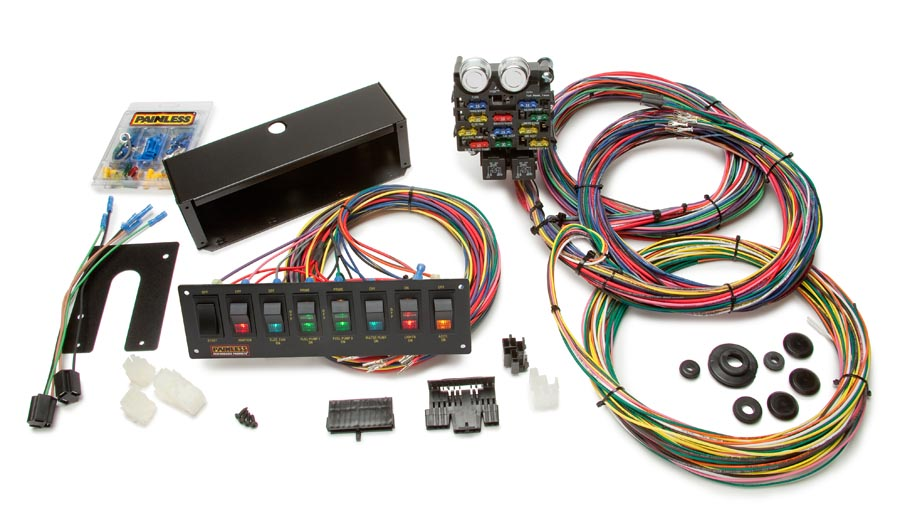 21 circuit pro street chassis harness w switch panel painless 18 Circuit Universal Wiring Harness