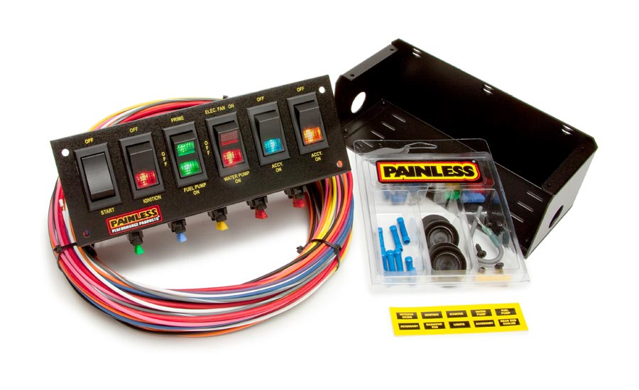 [SCHEMATICS_4FD]  6 Switch Panel - Fused w/all necessary wiring & hardware | Painless  Performance | Fox Body Wiring Harness Painless |  | Painless Wiring