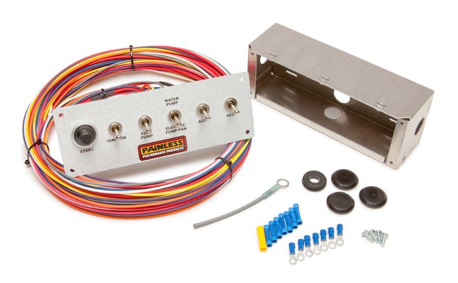 painless performance wiring diagram water pump 6 switch pro street panel painless performance  6 switch pro street panel painless