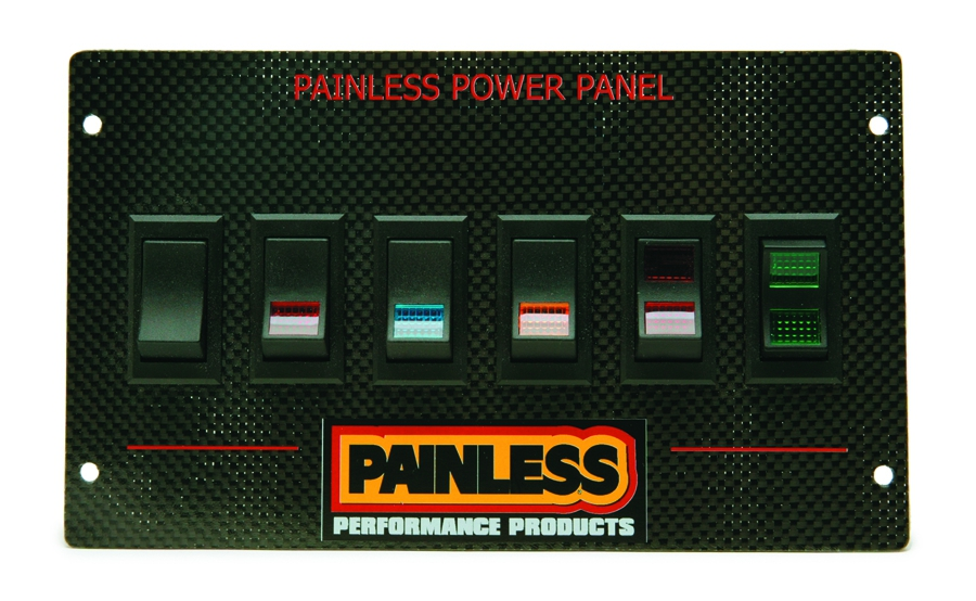 Carbon Fiber Mustang Power Panel for 1987-93/Rocker By Painless Performance