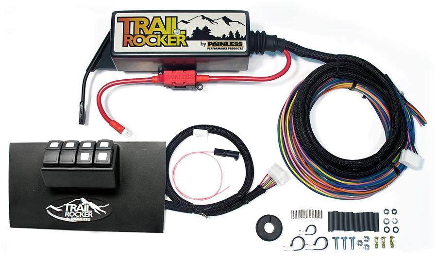 2007-2010 Jeep Wrangler JK Trail Rocker Accessory Control System By Painless Performance