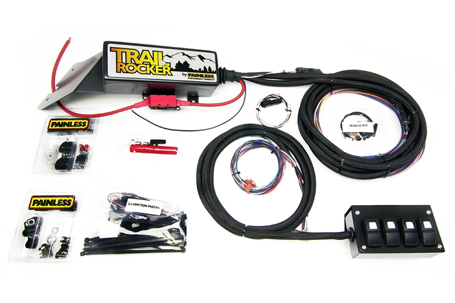 1976-86 Jeep CJ - Trail Rocker System w/Overhead 4 Switch  By Painless Performance