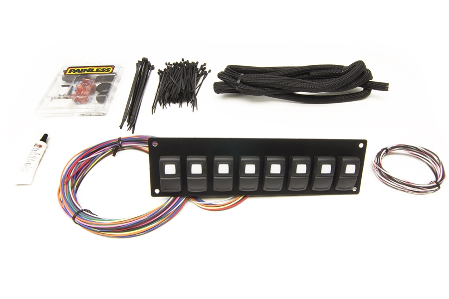 Track Rocker - 8 Switch Panel - In Dash Mount By Painless Performance