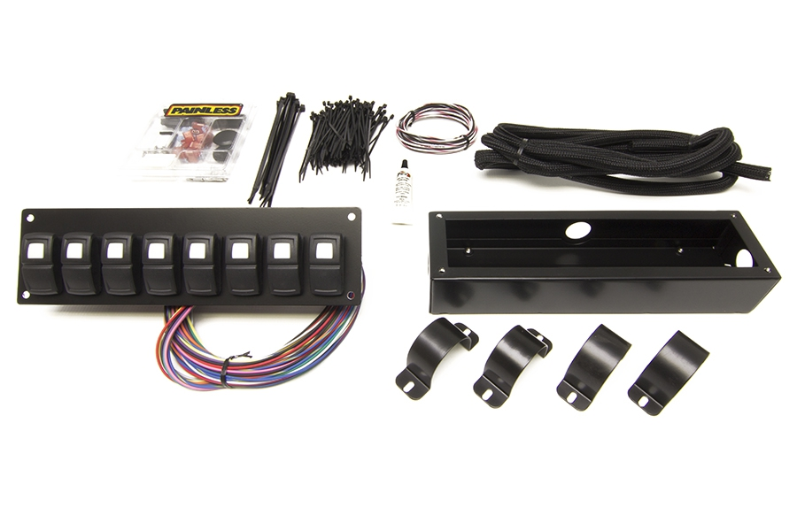 Track Rocker - 8 Switch Panel - Roll Bar Mount By Painless Performance