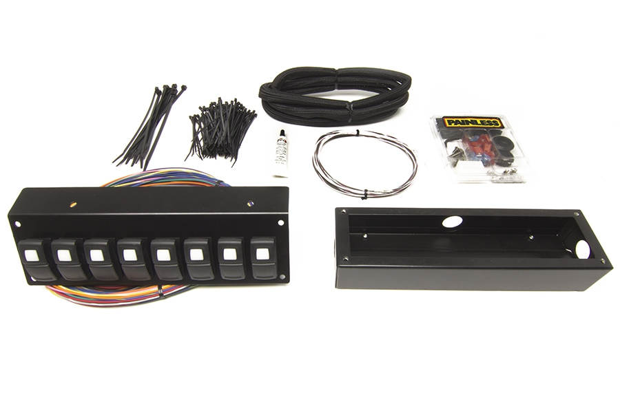 Track Rocker - 8 Switch Panel - Flange / Under Dash Mount By Painless Performance