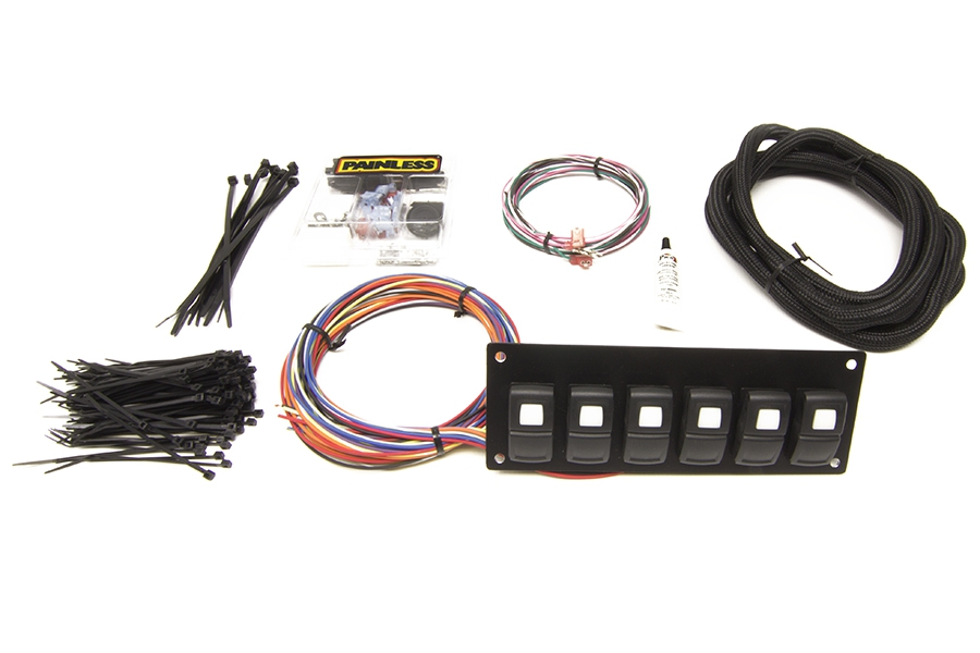 Track Rocker - 6 Switch Panel - In Dash Mount By Painless Performance