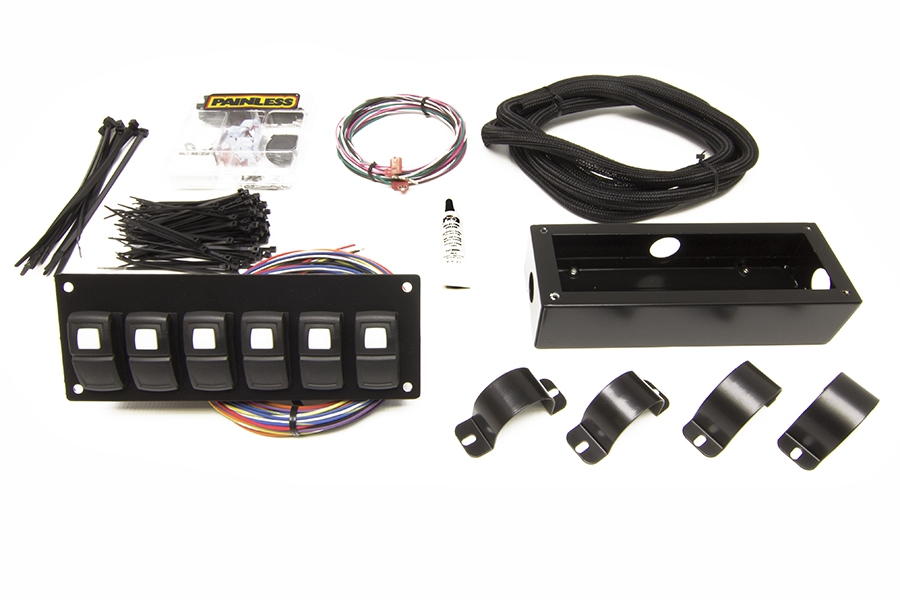 Track Rocker - 6 Switch Panel - Roll Bar Mount By Painless Performance