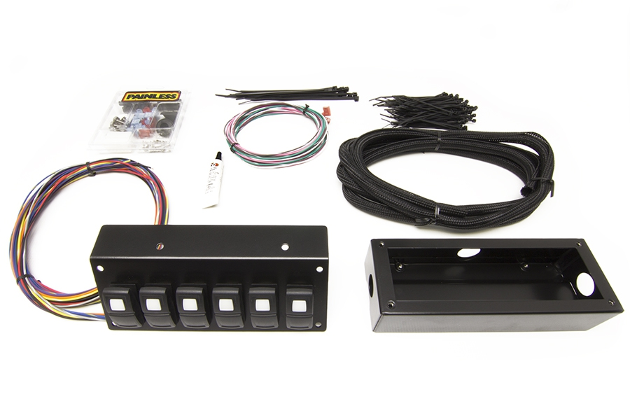 Track Rocker - 6 Switch Panel - Flange / Under Dash Mount By Painless Performance