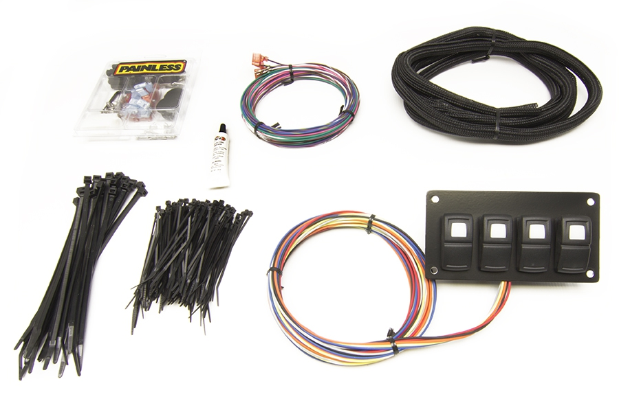 Track Rocker - 4 Switch Panel - In Dash Mount By Painless Performance
