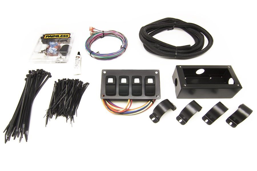 Track Rocker - 4 Switch Panel - Roll Bar Mount By Painless Performance