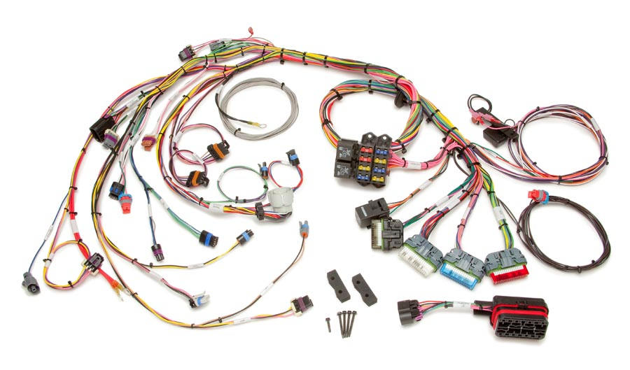1996 99 gm vortec 5 0 & 5 7l v8 (cmfi) harness extra length ford explorer engine wiring harness 1996 99 gm vortec 5 0 & 5 7l v8 (cmfi) std length