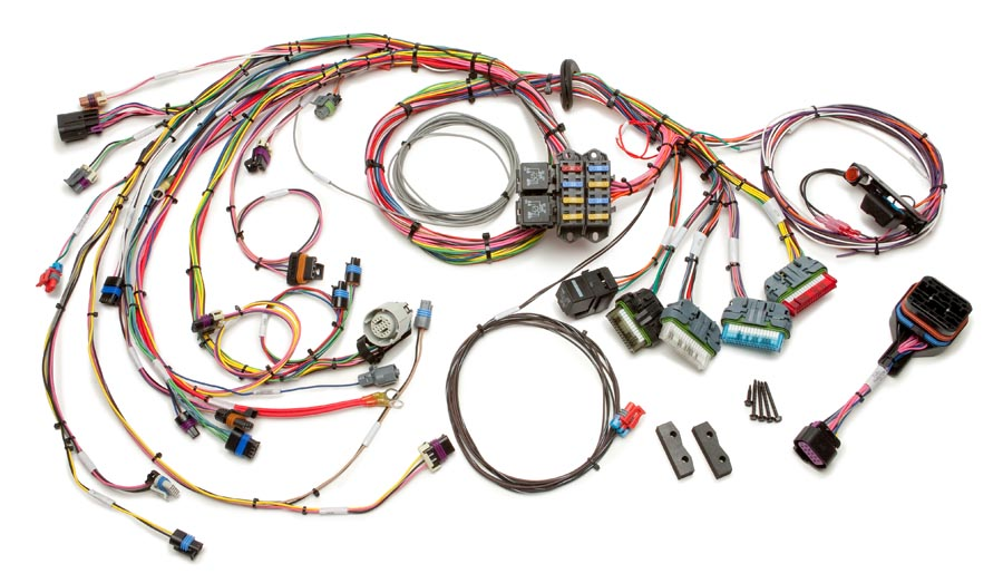1996 99 gm vortec 4 3l v6 (cmfi) harness std length painless Jeep Wiring Harness Behind Brake Pedal