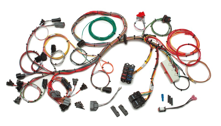 ford 1986 1995 5 0l fuel injection wiring harness extra length rh painlessperformance com ford wiring harness repair kit ford wiring harness color codes