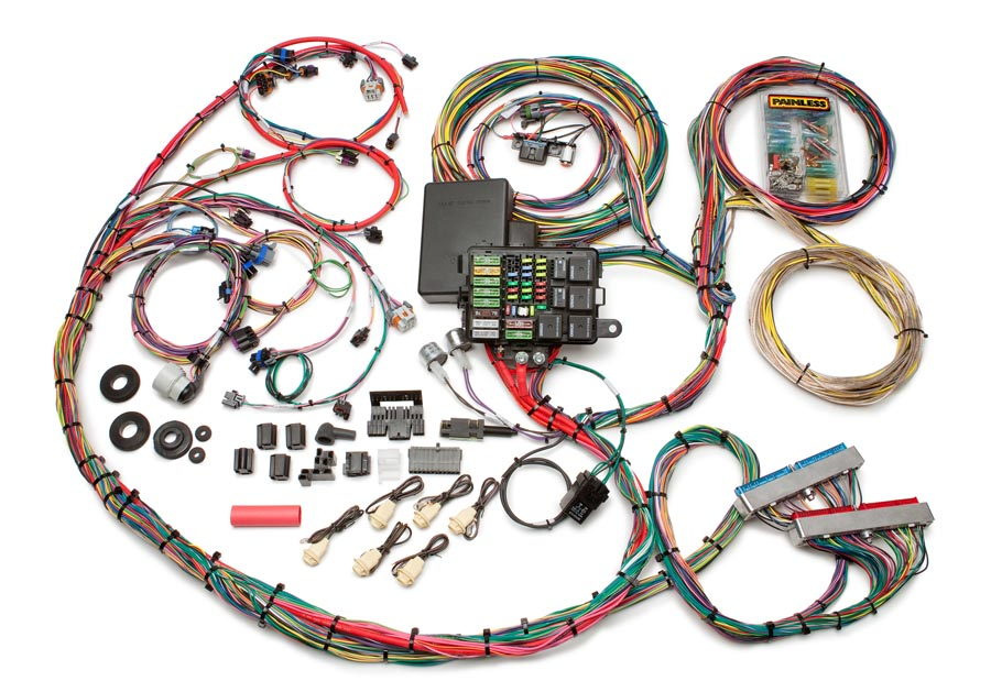 1999-2006 GM Gen III 4.8/5.3/6.0L Integrated EFI & Chassis Harness ... race car wiring Painless Wiring