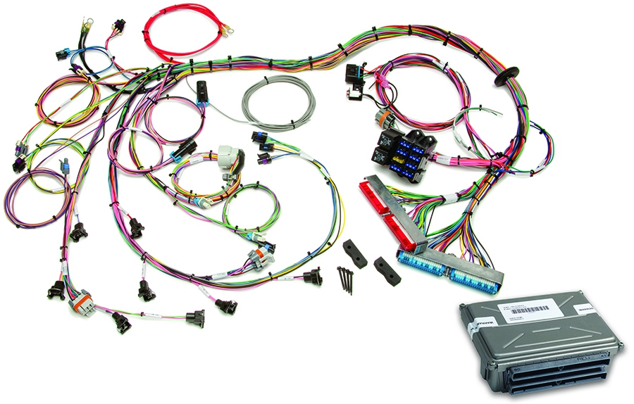 1998-2004 gm ls1/ls6 efi harness & vats removed ecm by painless performance