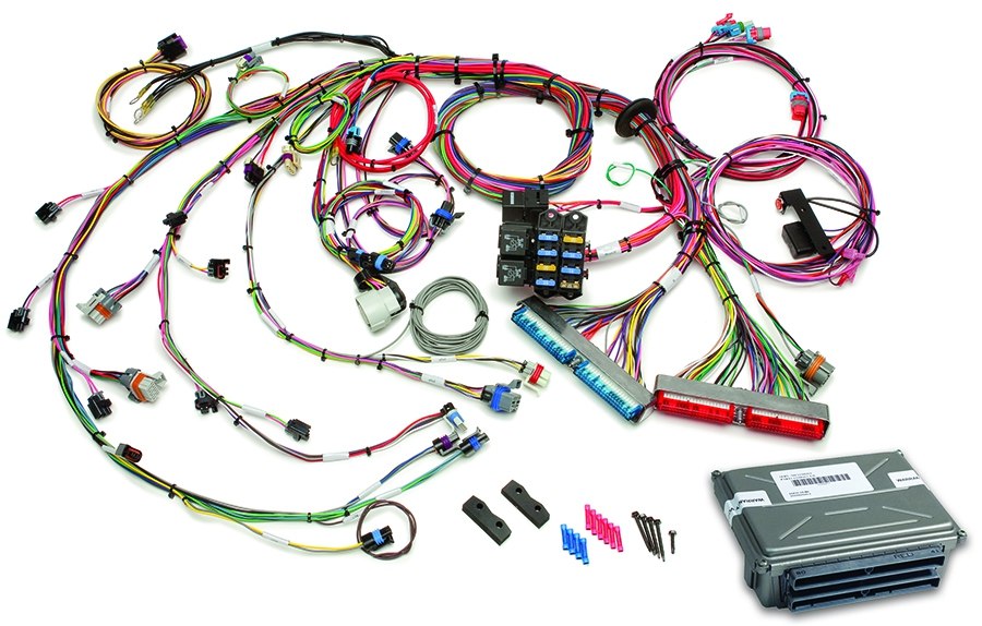 1999-2006 GM Gen III 4.8/5.3/6.0L EFI Harness & VATS Removed ECM - Mech TB  By Painless Performance