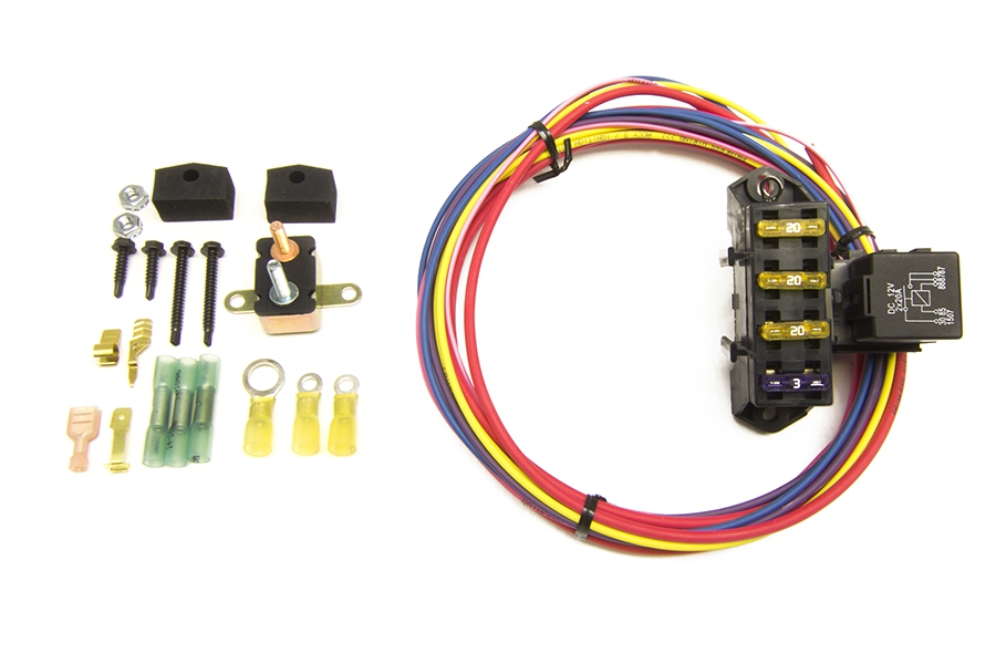 CirKit Boss Auxiliary Fuse Block/3 Circuits (1 Constant 12V - 2 Ignition 12V)  By Painless Performance