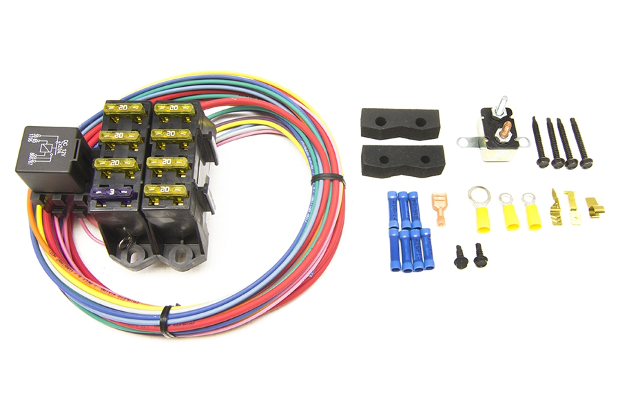 CirKit Boss Auxiliary Fuse Block/7 Circuits (3 Constant 12V - 4 Ignition 12V) By Painless Performance