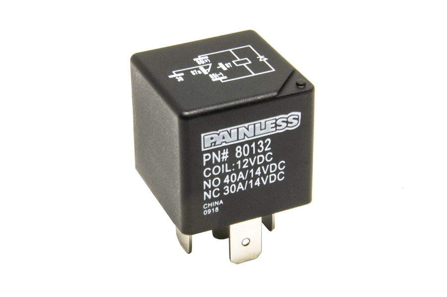30 Amp, Single Pole Double Throw Relay - Diode Suppressed By Painless Performance