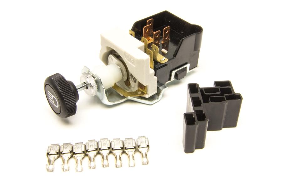 Headlight Switch/Black Knob/GM Style w/Dimmer & Dome Light ...