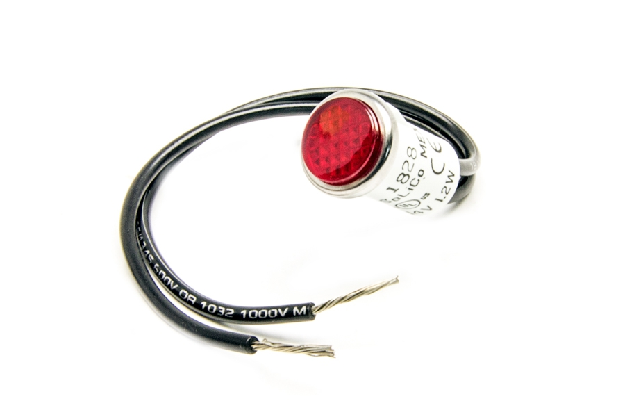 1/2 inch Dash Indicator Light/Red By Painless Performance