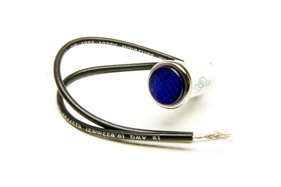 1/2 inch Dash Indicator Light/Blue By Painless Performance
